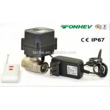 R20 Radio control de la válvula de bola de agua eléctrica para control remoto