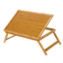 Best quality and factory for Hotel Bamboo Serving Tray Multi-functional Bamboo Bed Table Wood with Legs Feet export to Angola Importers