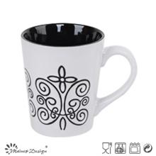 12oz Siebdruck Keramik Milch Becher