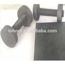 Cerámica de carburo de silicio Tornillo roscado varilla de cerámica RBSIC / SISIC / SSIC cerámica
