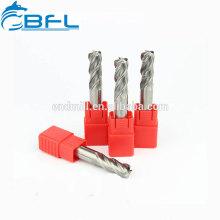 Tungstène BFL CNC Longue Flûte Carbure Solide Taille Normale Nez Rond Fraises Outils de coupe pour le travail de filière