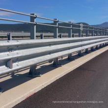 Highway galvanized guardrail traffic crash barrier terminal end for go kart with bridge crash barrier