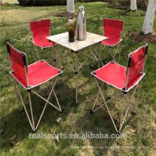 Mesa plegable portátil y silla Juego Mesa plegable nueva cocina de diseño al aire libre