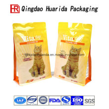 Levántese el bolso del papel de aluminio de la comida para gatos con la cremallera