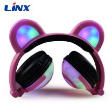 Christmas promotional gift kid bear ear headphones