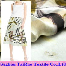 5.5mm Reactive Printed Silk Chiffon for Garment Fabric