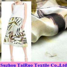Chiffon de seda impresso reactivo de 5.5mm para a tela do vestuário