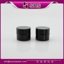 Fabricant d'emballage SRS petit récipient en plastique, rond noir 8g PETG crème à base de crème liquide