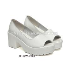 SR-14WHE983 fashion girls high heel shoes women genuine leather shoes ladies genuine leather shoes