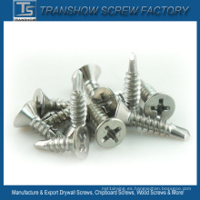 DIN7504-P Tornillos autoperforantes con cabeza avellanada