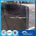 Vidrio curva laminado seguro para puerta de oficina