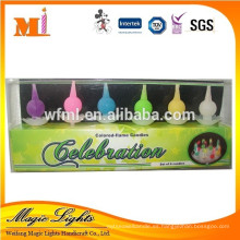 Vela con forma de pera Color Flame Birthday