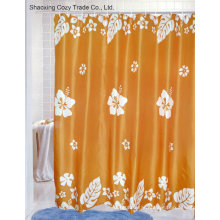 Big Flower Bathroom Fabric Polyester Shower Curtain