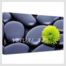 Black Stone Yellow flower Printed Canvas Painting Wall Art