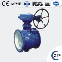 hard seal flange type eccentric semi handle ball valve