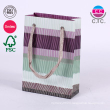 fashion set of 6 paper shopping carry bag with handle