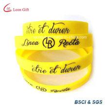 Silicone imprimé personnalisé bracelet