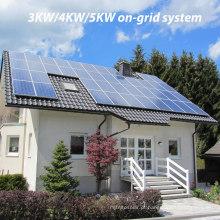 PV 3kw / 4kw / 5kw solar no sistema do telhado da grade