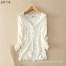 Fashion Elegant Lace Blouse for Ladies Spring in 2016