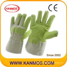 Guantes de trabajo de seguridad de cuero artificial de vinilo (41015)