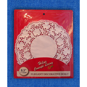 8.5inch round kraft paper doily back card