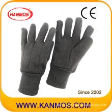 Segurança Industrial Marrom Malha Cuff Algodão Mão Luvas de Trabalho (41009)