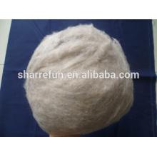 Fibra de lana de cabra mongol marrón depilada pura al 100%