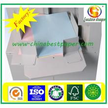 White Carbonless CFB Papier in Rollen