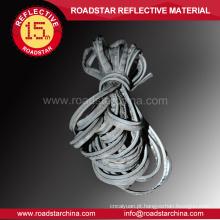 Personalizado prata-cinzento tubulação reflexiva para roupas esportivas