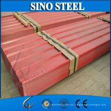 Hoja de techo de chapa de acero corrugado de alta calidad Z40 0.17mm