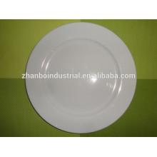 """Plato de cena de alta temperatura de porcelana fina en 10 """"para el uso del hotel, cena al por mayor"""