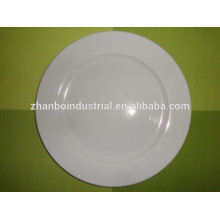"High temperatured fine porcelain dinner plate in 10"" for hotel use, wholesale dinner set"