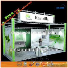 soporte de exhibición de exhibición del braguero de aluminio para la feria profesional, soporte de exhibición del braguero de la iluminación