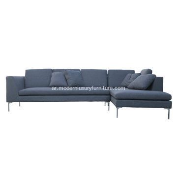 L-Shape B & B Italia Fabric Sectional Sofa Charles