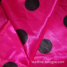 Beautiful and printed satin fabric for wedding dress, fashionable dress and garments