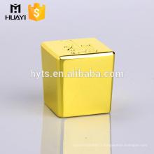 best selling gold zamac square caps