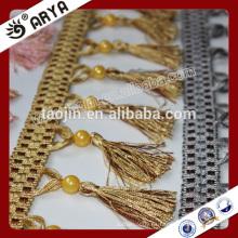Producto en stock Liquidación barata para la cortina del sofá Almohada de la franja moldeada plástica de la borla
