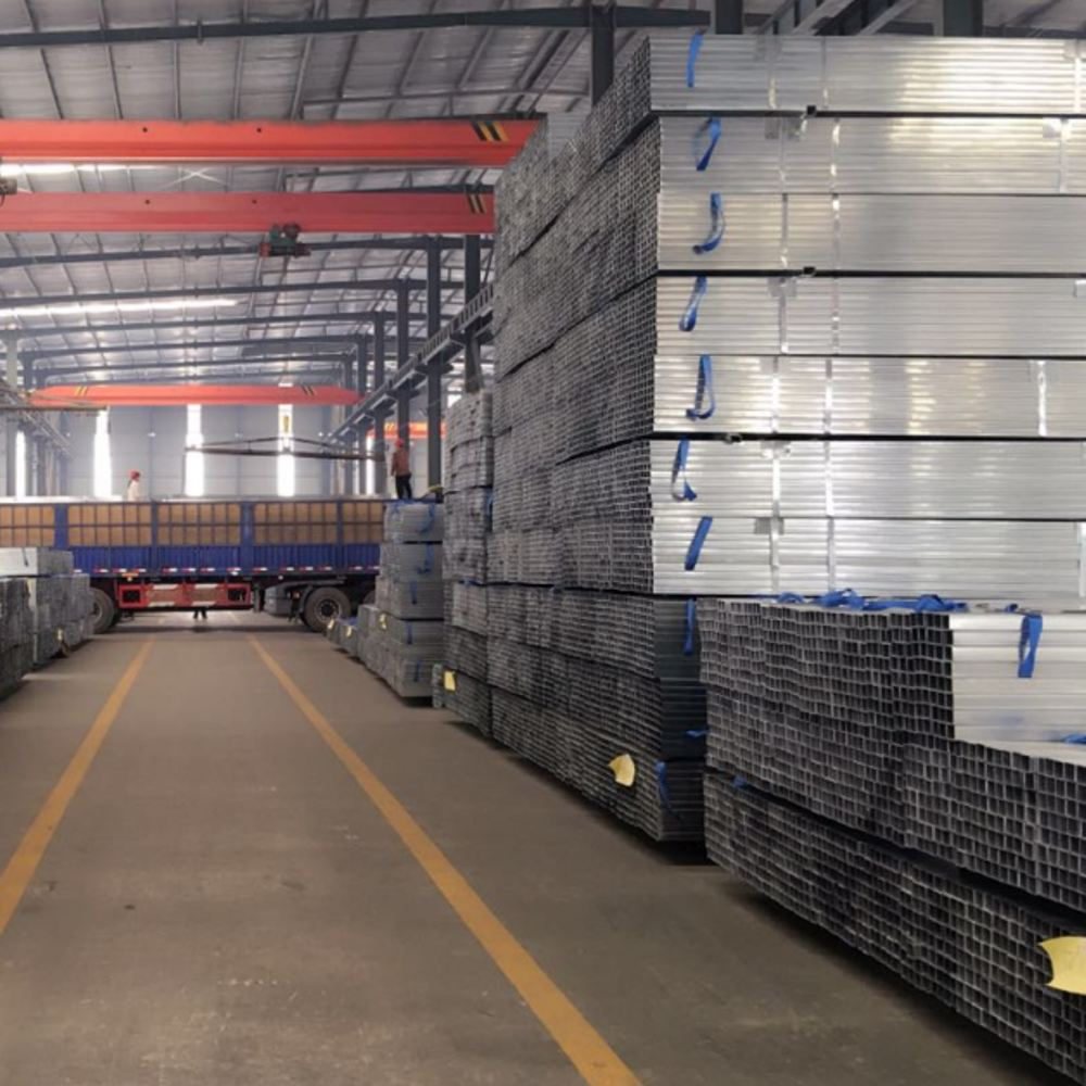 corrugated galvanized rectangular steel pipe