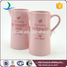 good quality Pink modern decal ceramic hot sale water jug