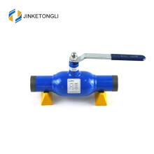 China fabricação JKTL trunnion de aço carbono montado válvula de esfera