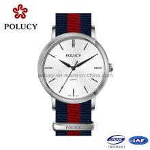 Personalizado de alta calidad reloj de Nylon para mujer