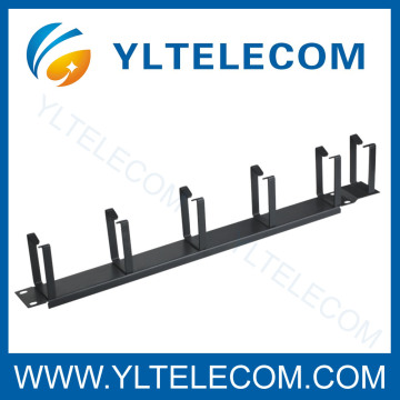 Manufactur standard for Network Cable Management, Computer Cable Management, Rack Cable Management in China 19 Inch Cable Manager With 6pcs Metal Ring export to Liechtenstein Factory