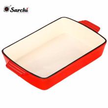 Cocción Utensilios de cocina Revestimiento esmaltado Recipiente rectangular de hierro fundido