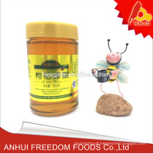 fornecer puro mel wolfberry lycium chinês em garrafa de 950g