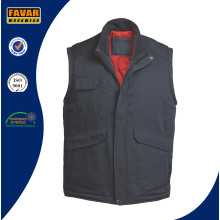 Worker Grey or Black Padded Gilet