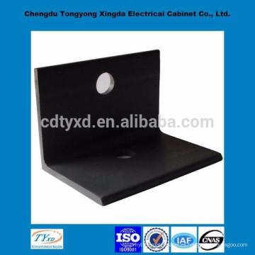 porcelana directo de fábrica de alta calidad iso9001 oem metal negro personalizado l soporte