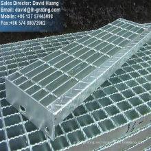 Galvanizado de estructura de acero rejas escaleras para escaleras