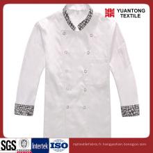 Tissu de cuisine en polyester blanc / coton