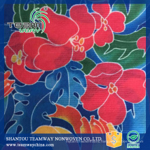 Flower heat transfer printing Stitch-bonded fabric PET nonwoven