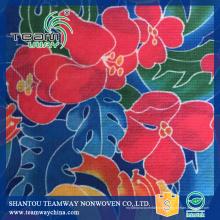 Impressão de transferência de calor de flores Tela sem costura PET não tecido